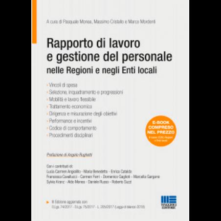RAPPORTO DI LAVORO E GESTIONE DEL PERSONALE nelle Regioni e negli Enti locali