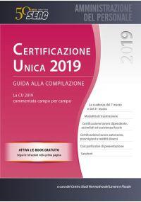 CERTIFICAZIONE UNICA 2019 - Guida alla Compilazione