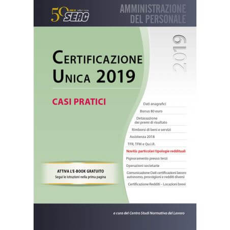 CERTIFICAZIONE UNICA 2019 - casi pratici