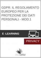 GDPR. Il Regolamento Europeo per la Protezione dei Dati Personali - MOD.1