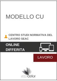Modello CU 2019