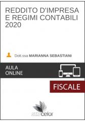 Reddito d'impresa e regimi contabili 2020