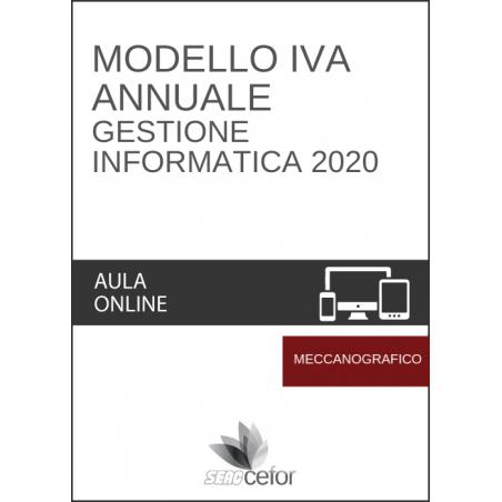 Modello IVA Annuale - GESTIONE INFORMATICA 2020