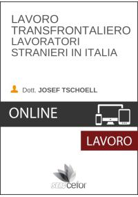 Lavoro transfrontaliero: lavoratori stranieri in Italia