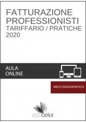 Fatturazione Professionisti - Tariffario/Pratiche 2020