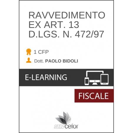 Ravvedimento ex Art.13 D.Lgs n. 472/97