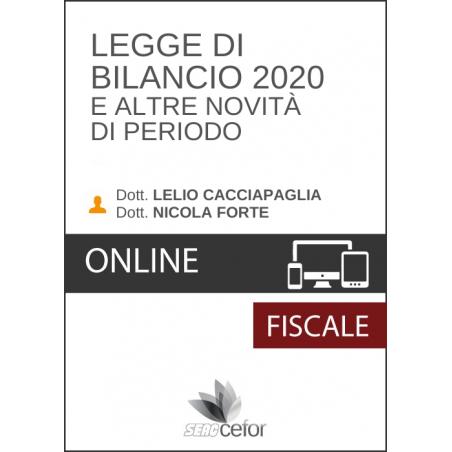 Legge di Bilancio 2020 e altre Novità di Periodo