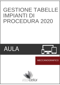 Gestione Tabelle Impianti di Procedura 2020