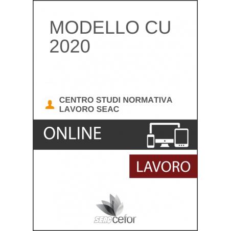 Modello CU 2020