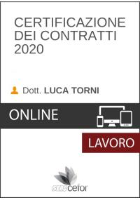 Certificazione dei Contratti 2020