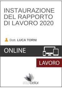 Instaurazione del Rapporto di Lavoro 2020