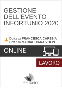 Gestione dell'Evento Infortunio 2020