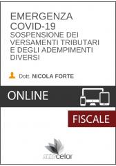 Emergenza COVID-19: Sospensione dei versamenti tributari e degli adempimenti diversi