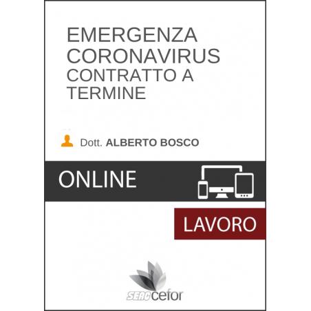 Emergenza Coronavirus: Contratto a termine - DIFFERITA
