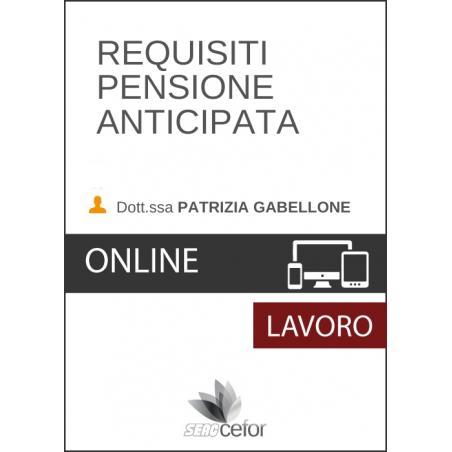 Requisiti pensione anticipate - DIFFERITA
