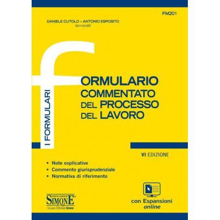 FM/201 Formulario Commentato del Processo del Lavoro