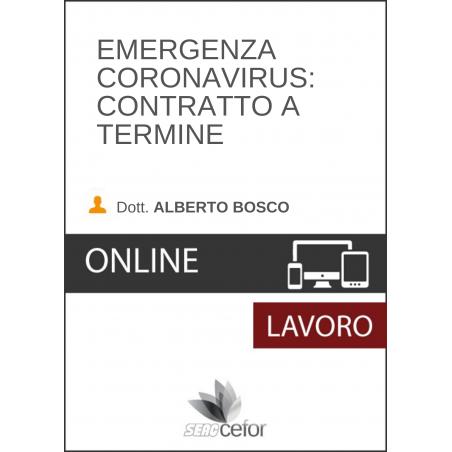 Emergenza Coronavirus: Contratto a termine