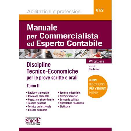 MANUALE PER COMMERCIALISTA ED ESPERTO CONTABILE Tomo II