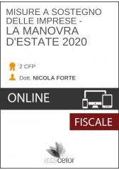 Misure a sostegno delle imprese: la Manovra d'estate 2020