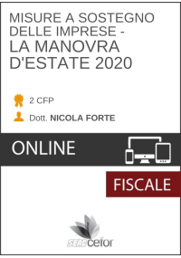 Misure a sostegno delle imprese: la Manovra d'estate 2020 - PACK