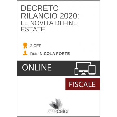 Decreto Rilancio 2020: le novità di fine estate- PACK