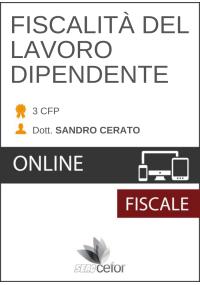 FISCALITA' DEL LAVORO DIPENDENTE