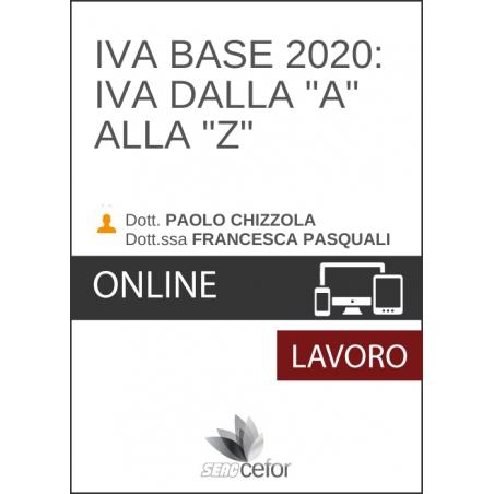 """Iva Base 2020: IVA dalla """"A"""" alla """"Z"""""""