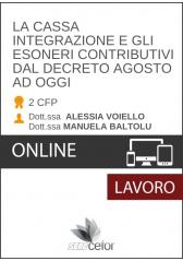 La Cassa Integrazione E Gli Esoneri Contributivi Dal Decreto Agosto Ad Oggi - Pack