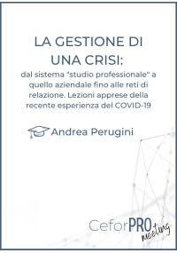"""LA GESTIONE DI UNA CRISI: dal sistema """"studio professionale"""" a quello aziendale fino alle reti di relazione."""