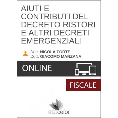 Aiuti e contributi del decreto ristori e altri decreti emergenziali