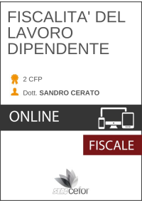 FISCALITA' DEL LAVORO DIPENDENTE - PACK