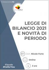 Legge di bilancio 2021 e novità di periodo