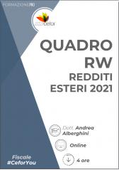 Quadro Rw - Redditi Esteri 2021
