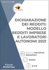 Dichiarazione Dei Redditi - Modello Redditi Imprese E Lavoratori Autonomi 2021 - Pack