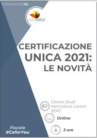 Certificazione Unica 2021: le novità