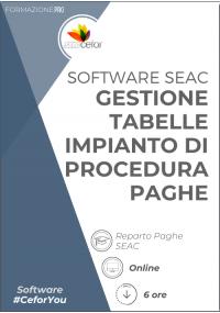 Software SEAC - Gestione Tabelle Impianti di Procedura 2021