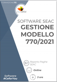 Software SEAC - Gestione 770/2021