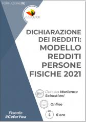 Pacchetto Corsi - Redditi 2021 completo