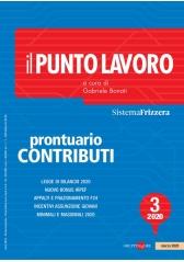 Il Punto Lavoro 3/2021 - Prontuario Contributi