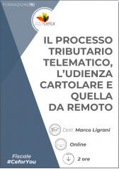 Processo tributario telematico, l'udienza cartolare e quella da remoto