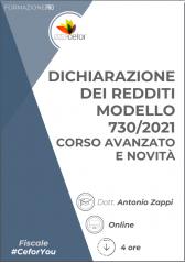 Dichiarazione Dei Redditi Modello 730/2021 - Corso Avanzato E Novità 2021 | Promozione Dedicata