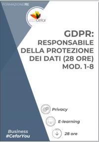 GDPR: Responsabile della protezione dei dati (28 ore) - Mod. 1-8