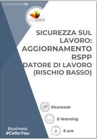 Corso Sicurezza - Datore di Lavoro RSPP - Rischio Basso (6 ore) - Aggiornamento