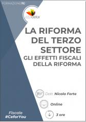 La Riforma Del Terzo Settore - Gli Effetti Fiscali Della Riforma - Pack