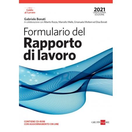 FORMULARIO DEL RAPPORTO DI LAVORO 2021 con CD
