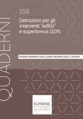 """Detrazioni Per Gli Interventi """"Edilizi"""" E Superbonus 110% - Ii Edizione"""