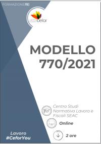 Modello 770/2021