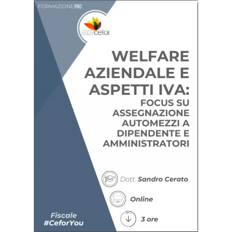 Welfare aziendale e aspetti IVA: focus su assegnazione automezzi  a dipendente e amministratori - PACK