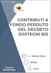 Contributi A Fondo Perduto Del Decreto Sostegni Bis - Pack