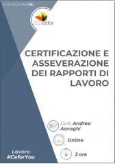 Certificazione e asseverazione dei rapporti di lavoro - PACK